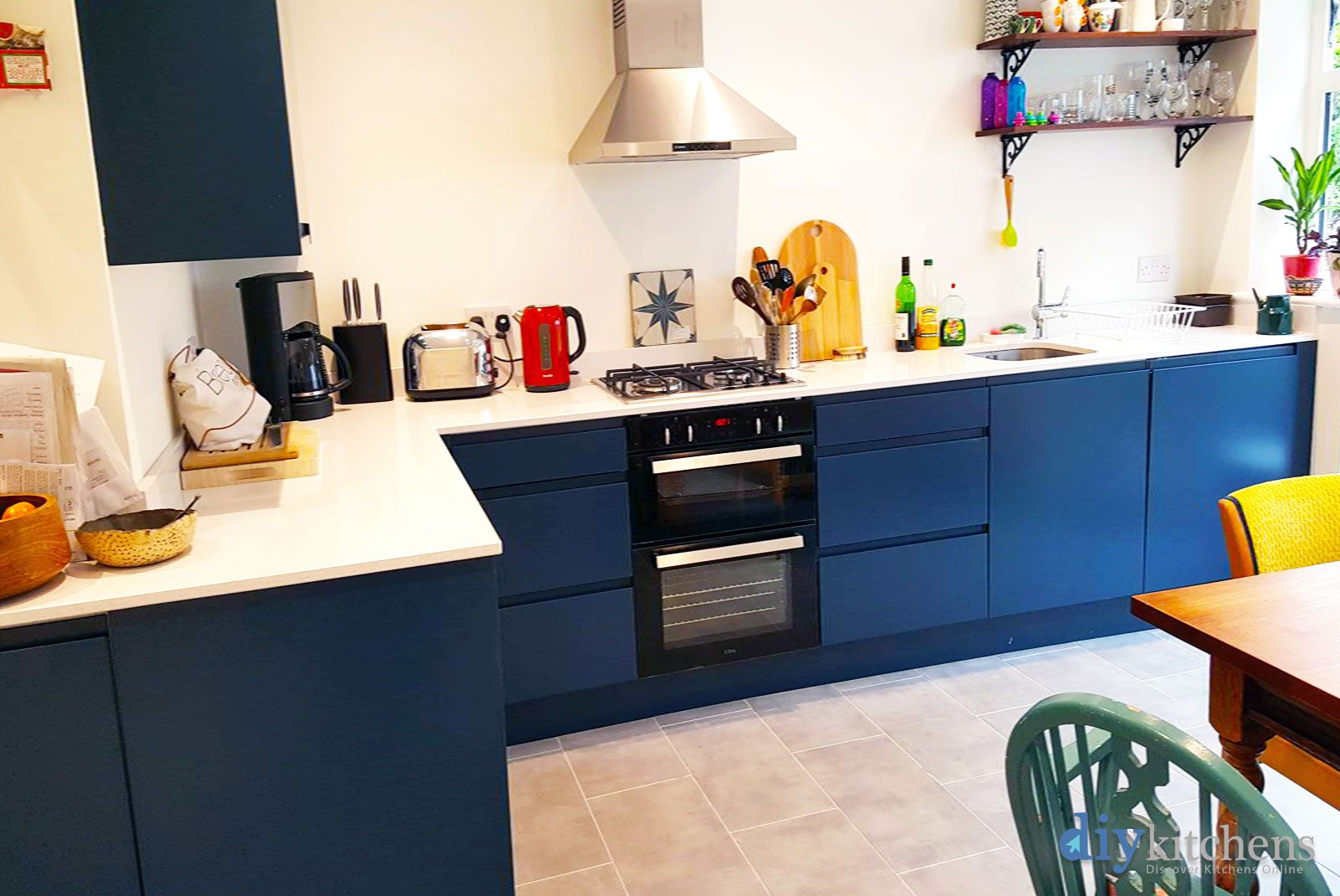 An Innova Luca Bespoke Painted Handleless Kitchen Diy