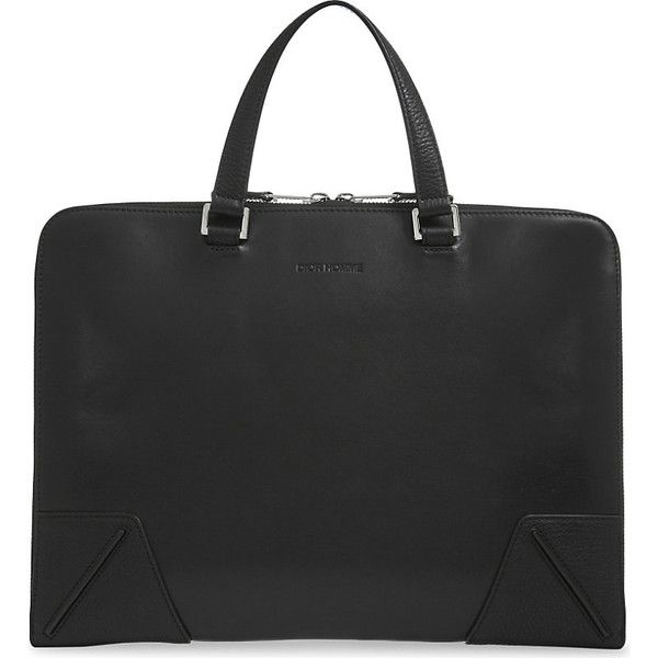 Dior Homme Calf leather briefcase ($1,330) ❤ liked on Polyvore featuring men's fashion, men's bags, men's briefcases and christian dior