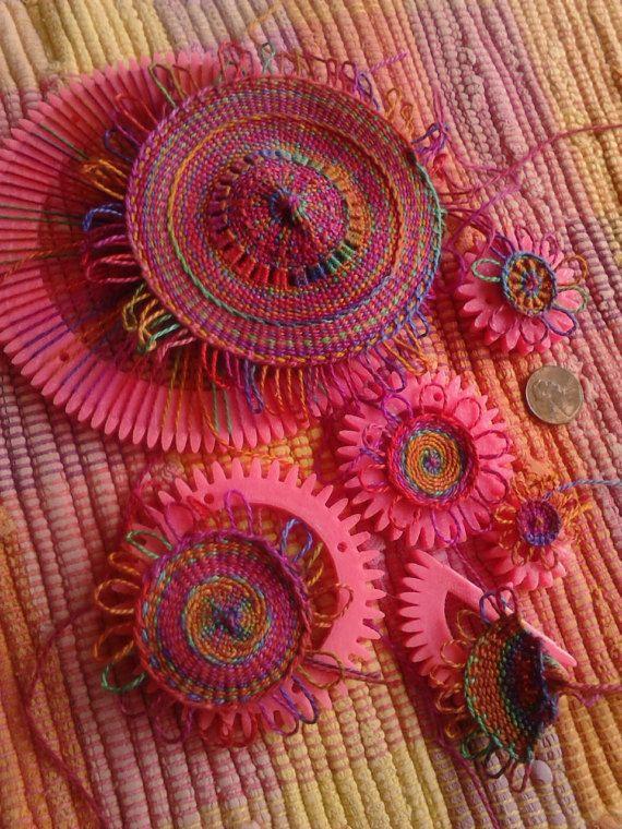 Set of Wee Looms for circle weaving | Patrones De Ganchillo ...