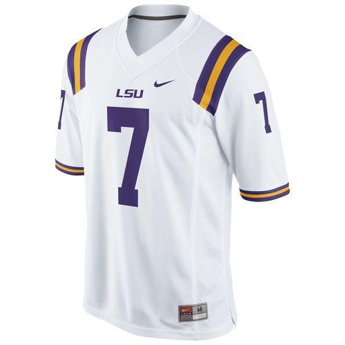No 7 Lsu Tigers Nike Replica Football Jersey White Lsu Football Jerseys Jersey