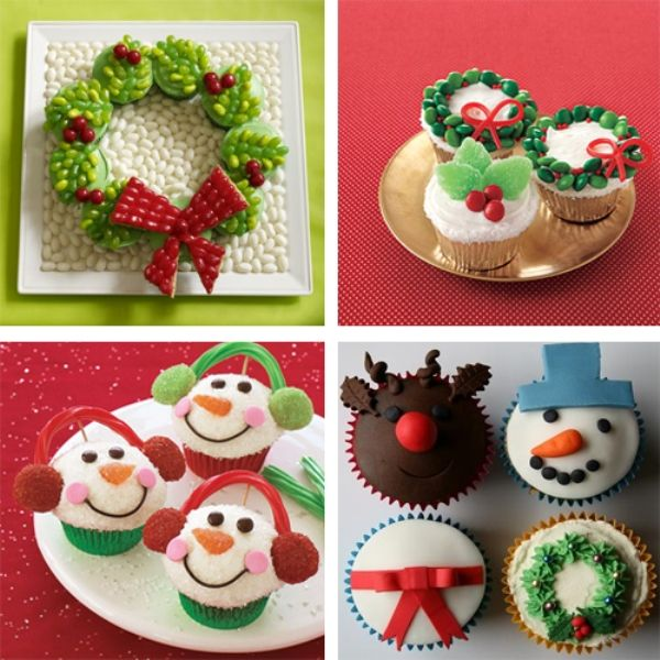 Easy Christmas Cupcake designs and Decorating Ideas & Easy To Make - DIY Christmas Cupcakes - Home Best Project | Recipes ...