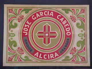 Naranjas José García Cabedo.  Alzira