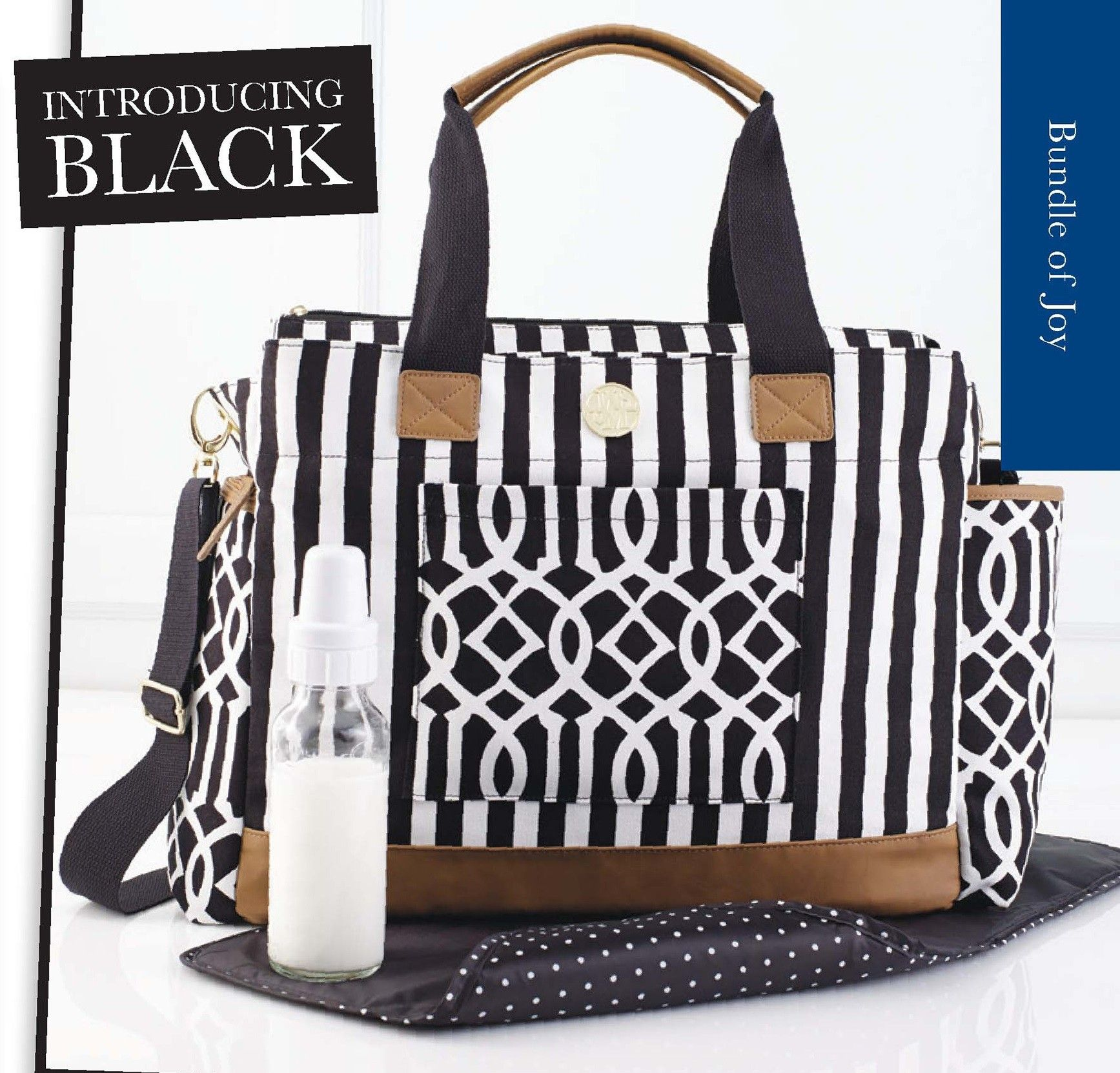 Ger Bundle Black Diaper Bag By Mud Pie