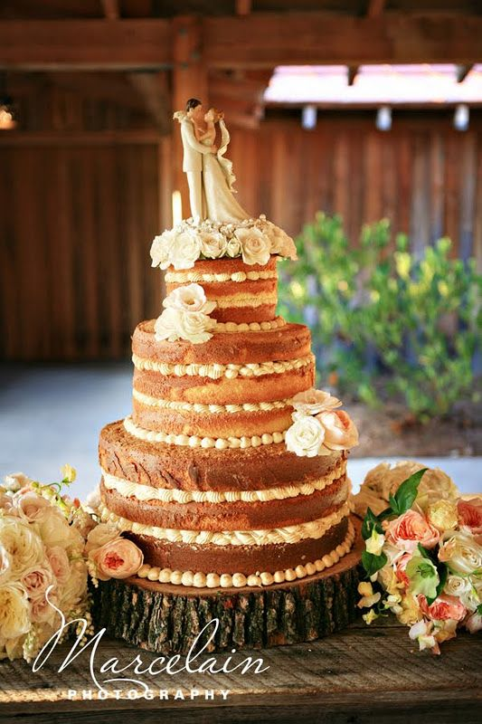 no frosting wedding cake called a quot nailed quot caked a pound cake with several layers 17906