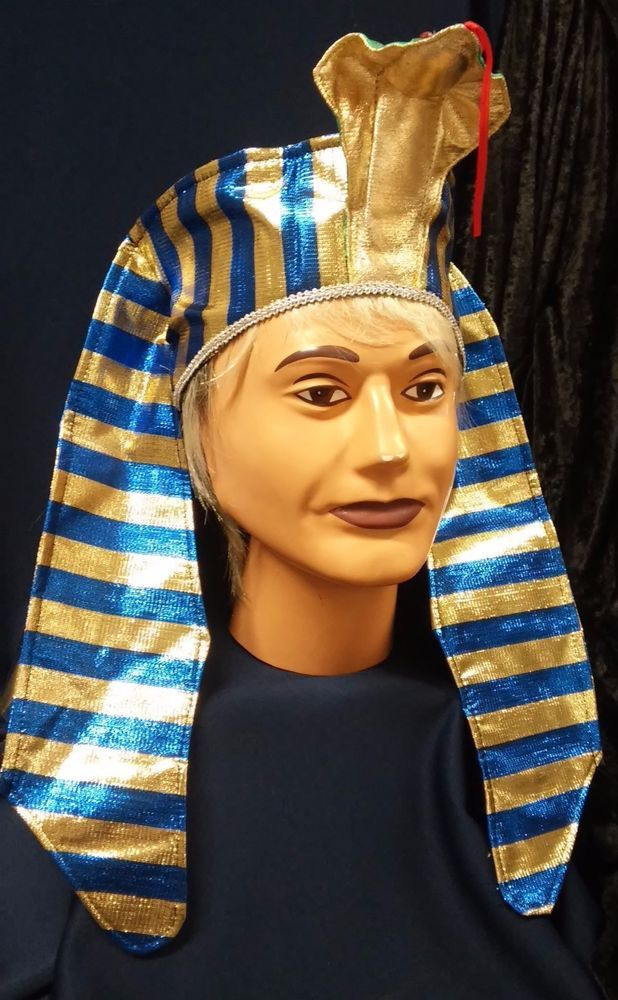 2bdb09348 Details about Deluxe Pharaoh Headpiece King Tut Fun Adult or Child ...