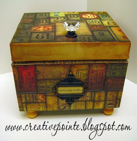 Love this altered file box!