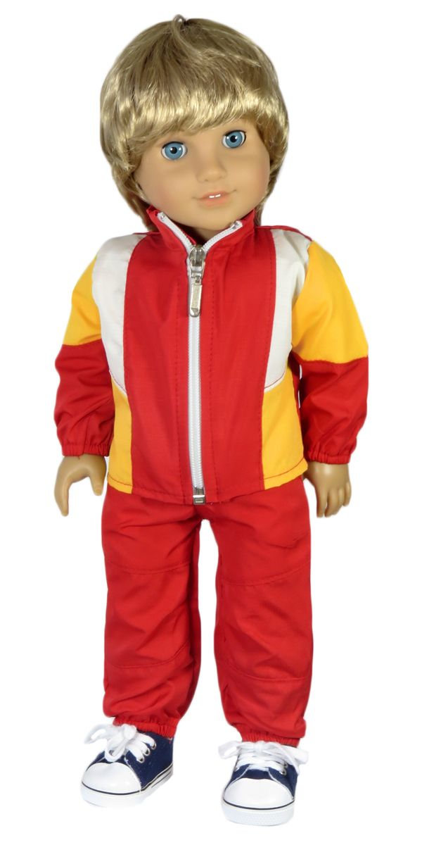 Doll clothes for American Girl boy doll - Silly Monkey - Red and ...