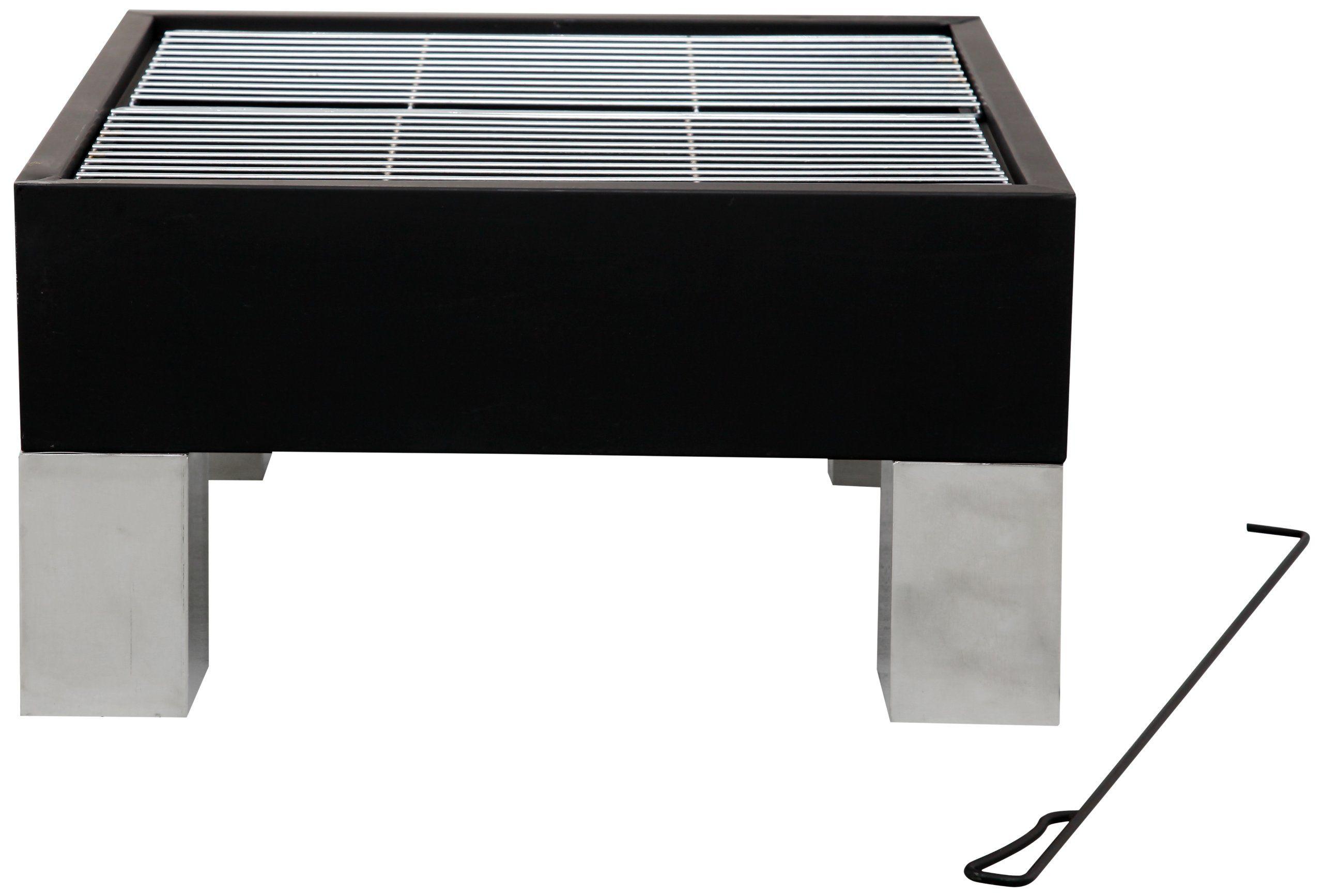 Tepro 40002 Design Feuerstelle Quot Burbank Quot Mit Funkengitter Eckig Feuerstelle Gitter Design