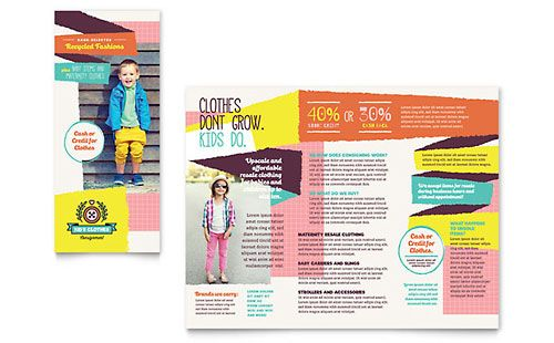 Kids Consignment Shop Brochure Template Graphic Design Pinterest