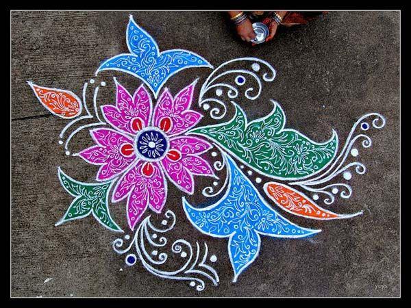20 Beautiful Rangoli Patterns and Designs  Rangoli patterns