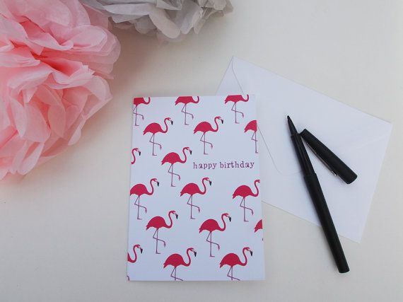A6 happy birthday flamingos greeting card choose your own set of 5 happy birthday flamingos greeting card choose your own set of designed and printed in the uk m4hsunfo