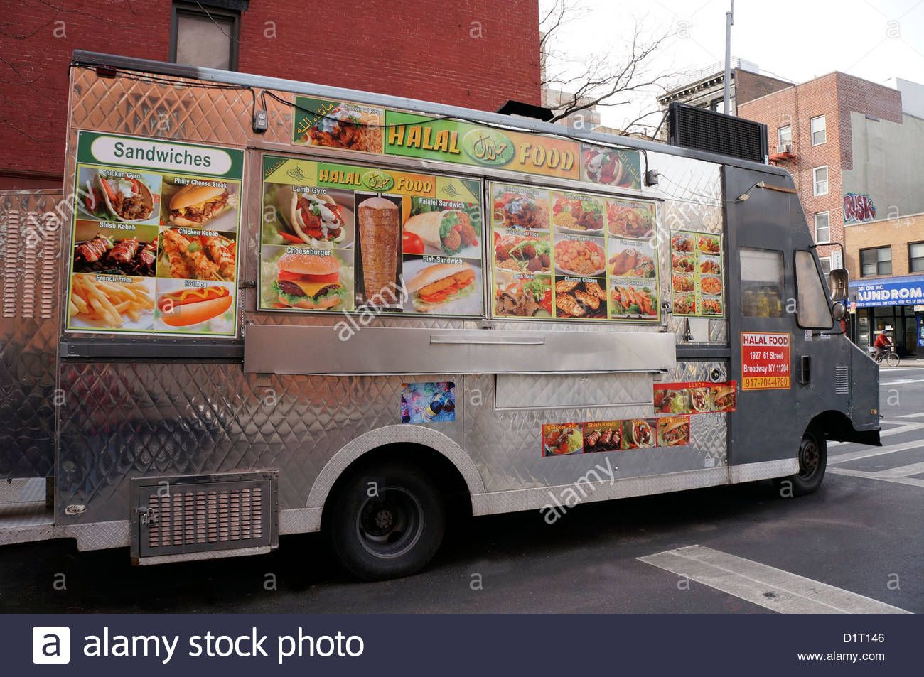 Halal Food Truck In The East Village Area