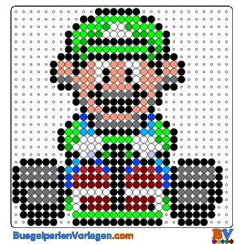 Mario Bros Bugelperlen Vorlage Auf Buegelperlenvorlagen 11
