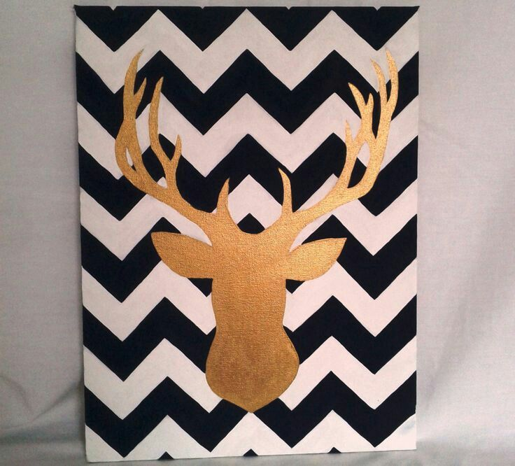 Cute chevron background with deer :)