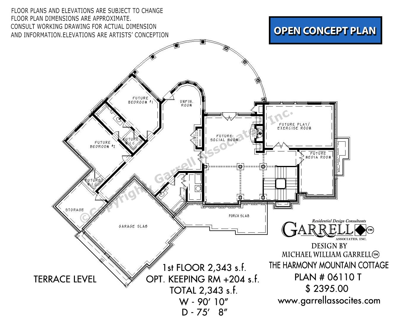 Harmony Mountain Cottage 06110t Garrell Associates Inc In 2020 Mountain Cottage How To Plan Floor Plans