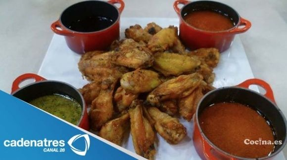 Alitas con 4 salsas: http://alitas-con-4-salsas.recetascomidas.com/ - #recetas #recipes