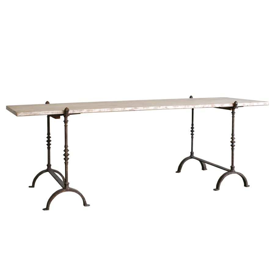 Eloquence St Remy Trestle Pickled White Dining Table @LaylaGrayce
