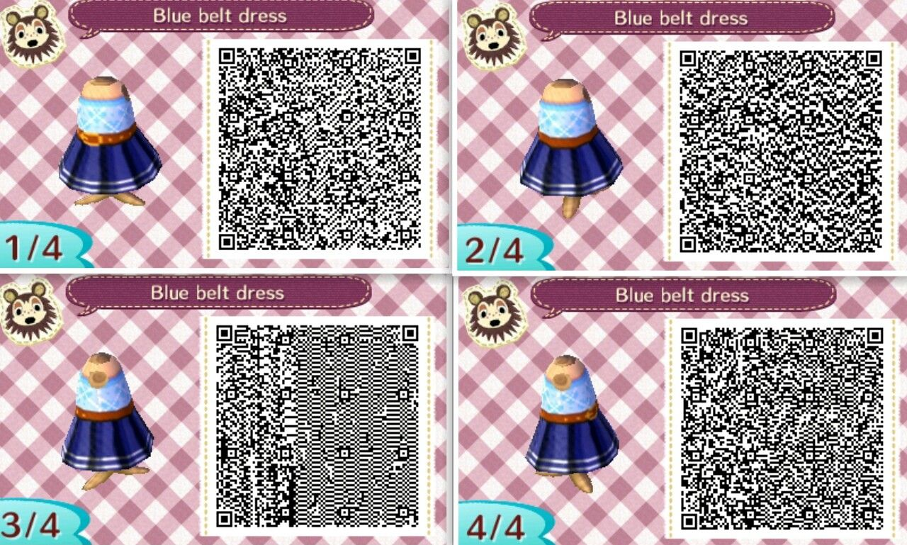 Bien-aimé Animal Crossing New Leaf Blue Belt Dress | Roseoforlando.tumblr  IQ12
