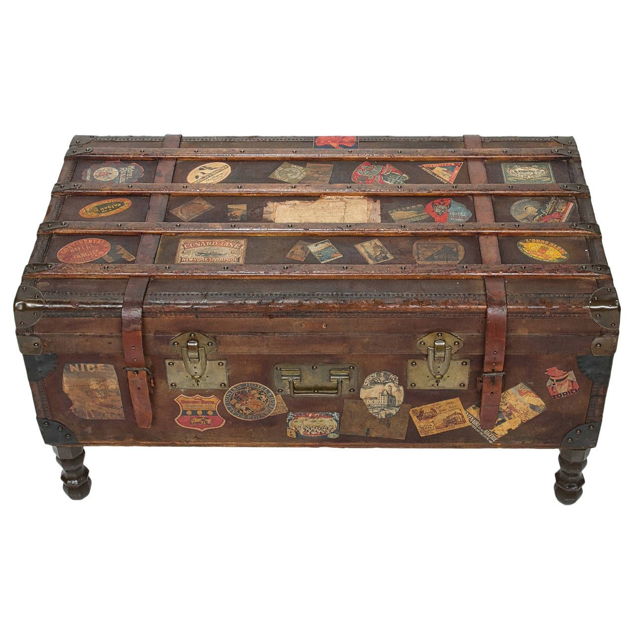 Great Trunk Makes A Nice Narrow Coffee Table With Storage But