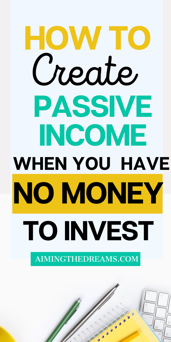 How To Create Passive Income With Little Money