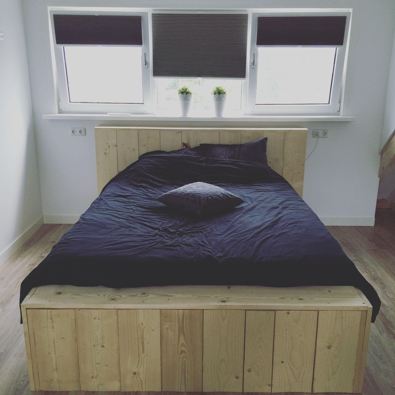 Wonderbaarlijk Slaapkamer! Onze oude boxspring in een nieuw jasje, de ombouw VP-92