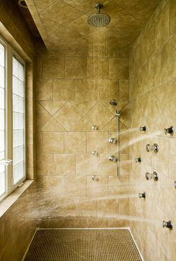 Multi Head Shower Note Ceiling Rainhead