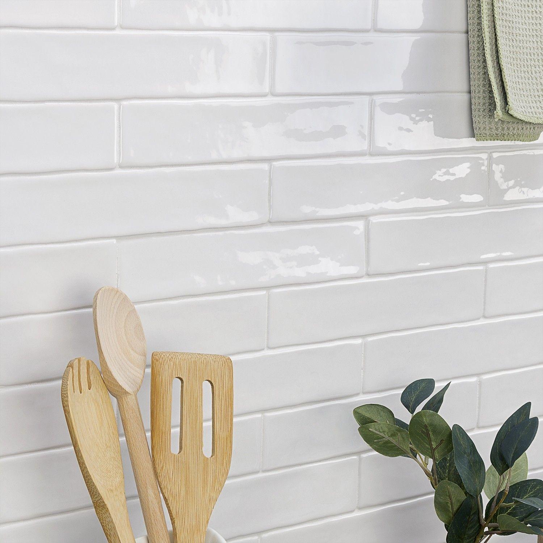 Seaport Arctic 2x10 Polished Ceramic Tile Ceramic Subway Tile Subway Tile Glass Subway Tile