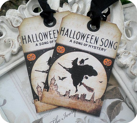 NEW  Vintage Halloween Song Witch Tags  by LittlePaperFarmhouse, $5.95