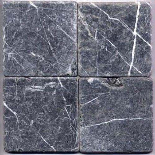 Nero Marquina Tumbled 12x12 Marble Tile Tumbled Marble Tile Marble Tile Black Marble Tile