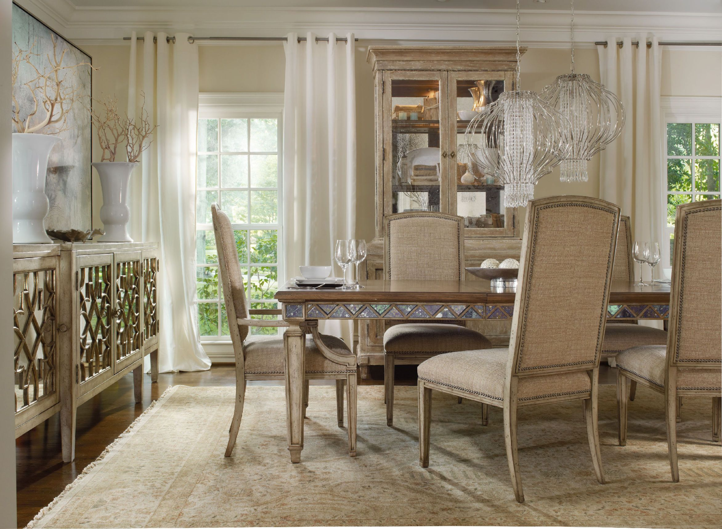 Shop For Hooker Furniture Sanctuary Mirage Side Chair Dune, And Other Dining  Room Chairs Furniture. Pursue Serenity At Home. Create Your Own Personal ...