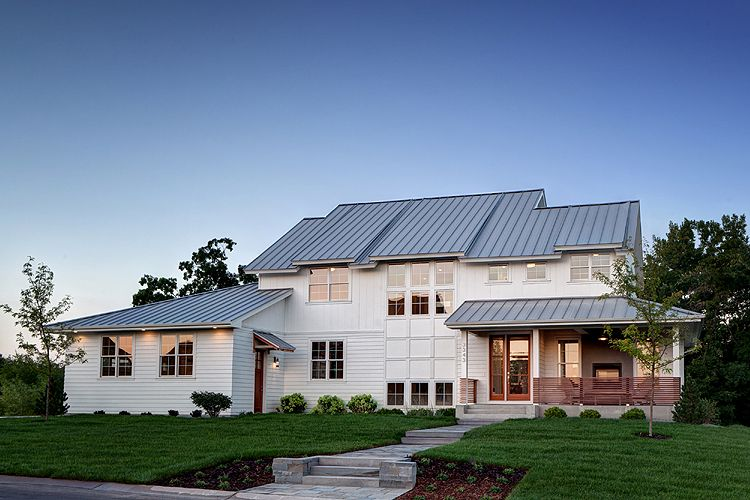 Painted White, The Siding Will Complement The Silver Gray Tone Of The  Standing  · Metal Roof ...