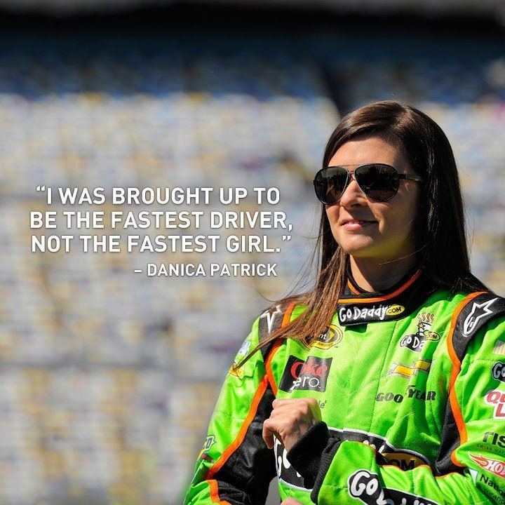 Congratulations to Danica Patrick for becoming the first woman in history to win the Daytona 500 pole on Sunday, Feb. 17, 2013.