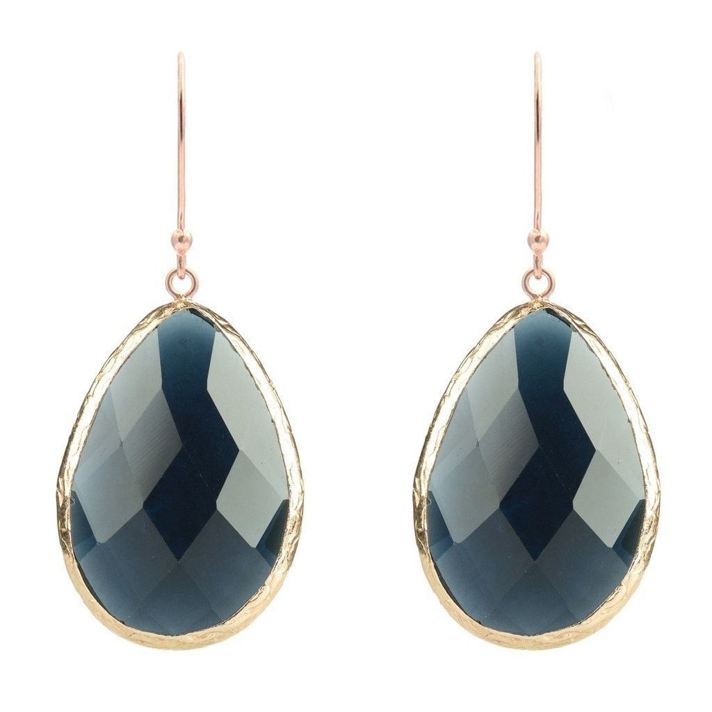 Latelita London Gold Single Drop Earring Sapphire Hydro KHHG5hy