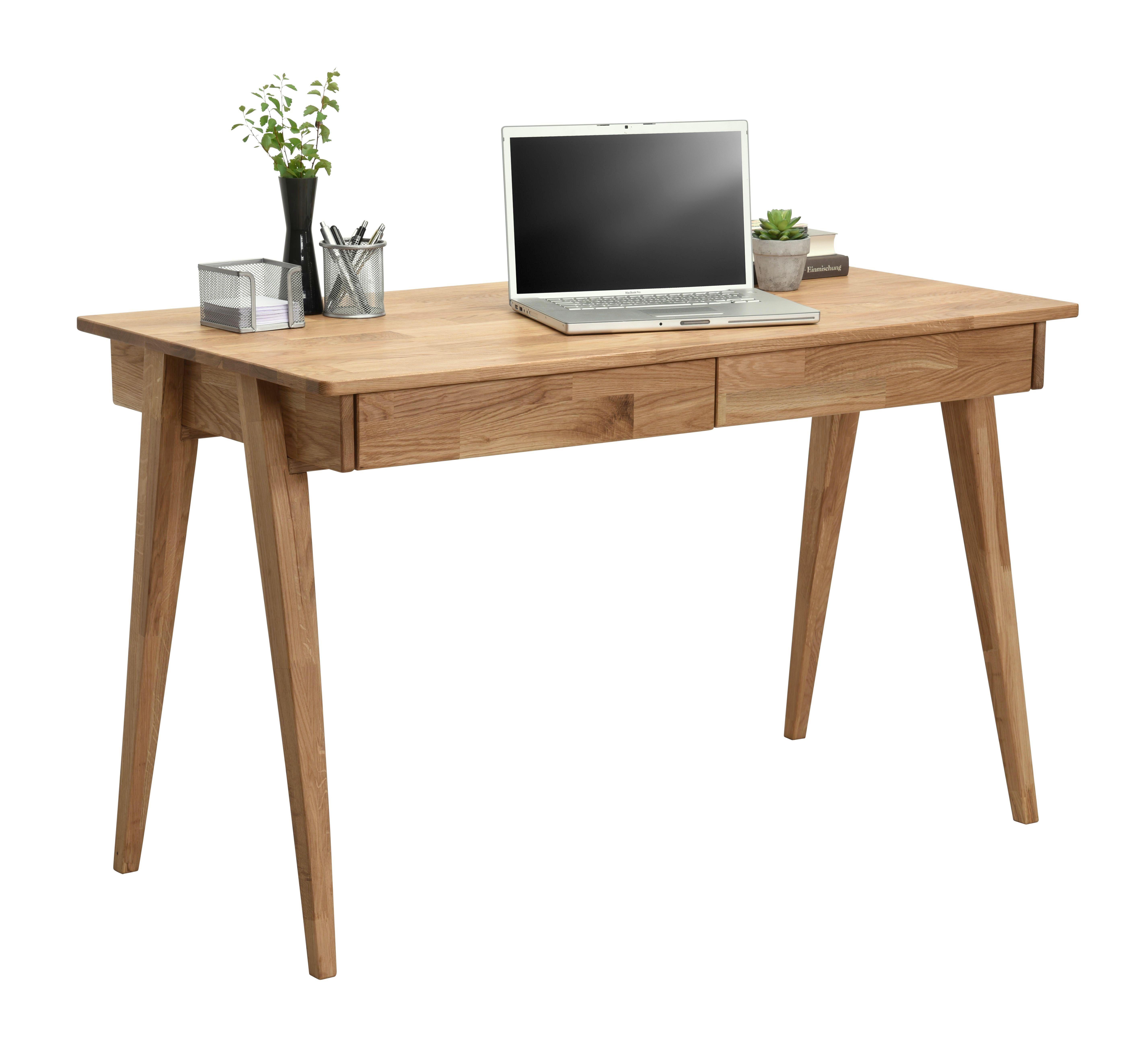 Schreibtisch Wildeiche Massiv Eichefarben Schreibtisch Holz Schreibtisch Modern Holzschreibtisch