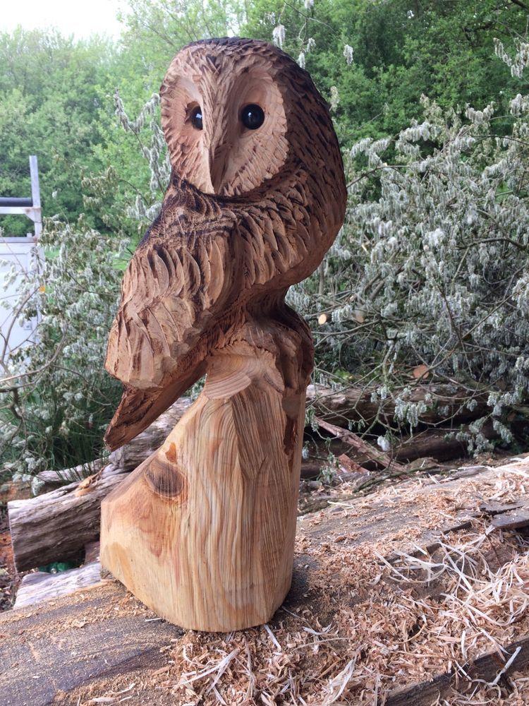 Chainsaw Carving Owl In Garden U0026 Patio, Garden Ornaments, Statues U0026 Lawn  Ornaments |