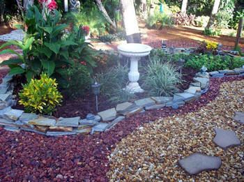 Crushed coquina rock landscaping google search dream for Landscaping rocks kitsap county