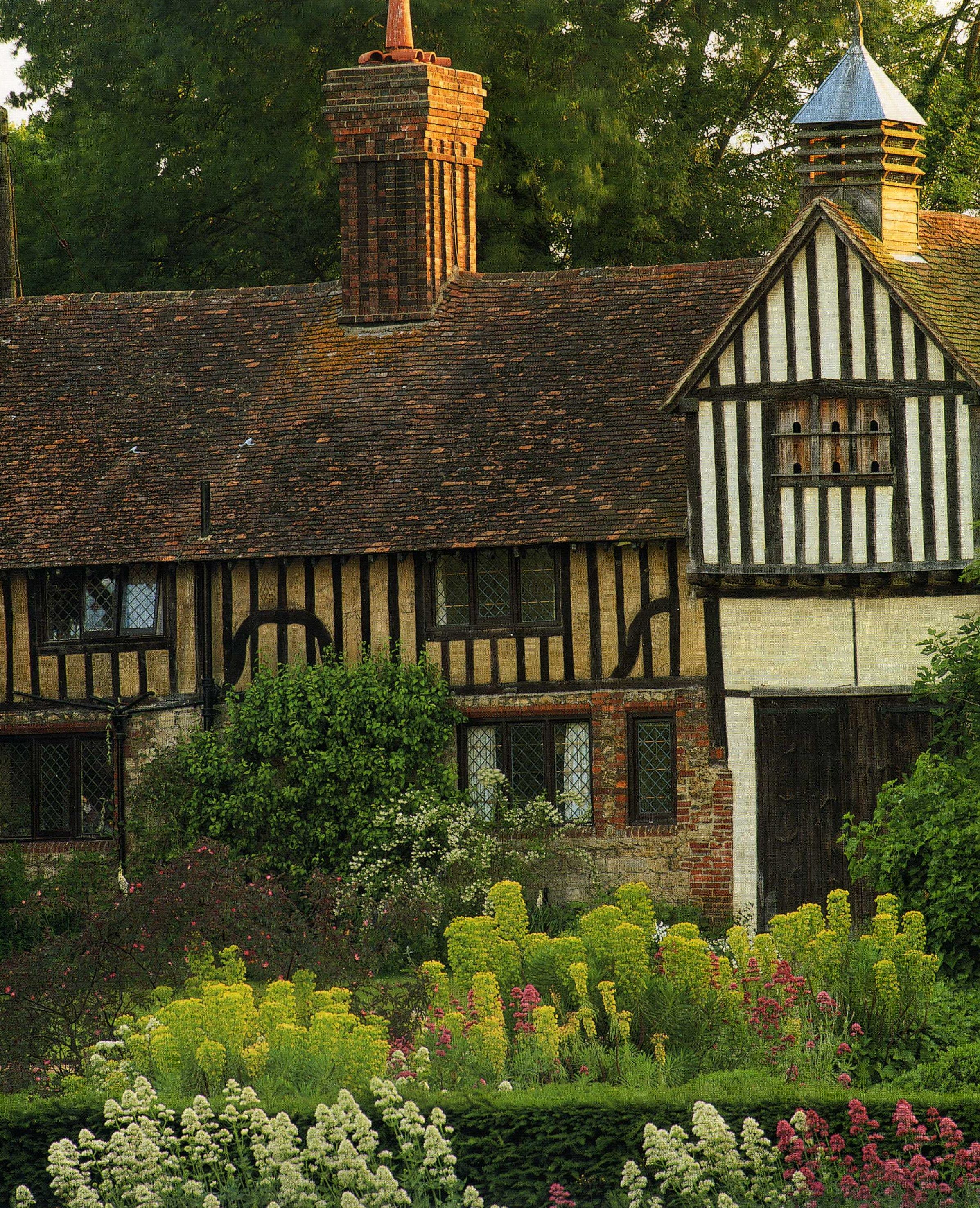 "Ightham Mote (pronounced ""item moat""), Ivy Hatch, Sevenoaks, Kent, England. The structural timbers of the house, have been dated to  1475"