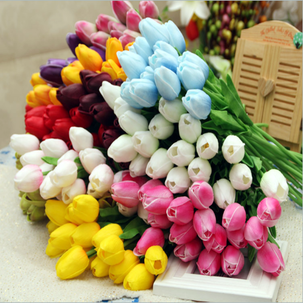 10pcspack artificial tulip flowers single long stem bouquet flower 10pcspack artificial tulip flowers single long stem bouquet flower wedding party decoration cheap izmirmasajfo