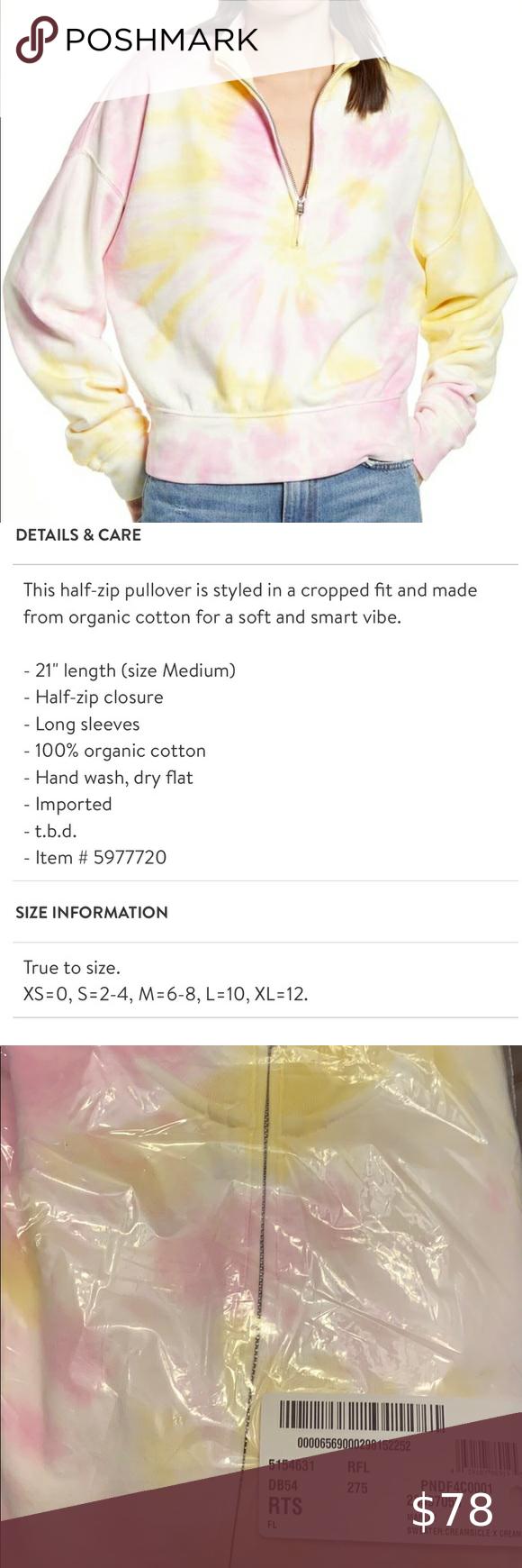 New Reformation Marla Half Zip Tie Dye Sweatshirt Tie Dye Sweatshirt Half Zip Pullover Tie Dye [ 1740 x 580 Pixel ]