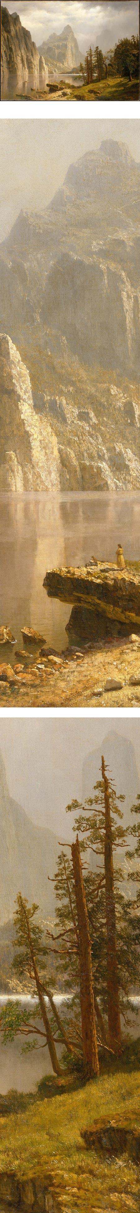 Merced River, Yosemite Valley, Albert Bierstadt - (Solingen, 7 de janeiro de 1830 — Nova Iorque, 18 de fevereiro de 1902)