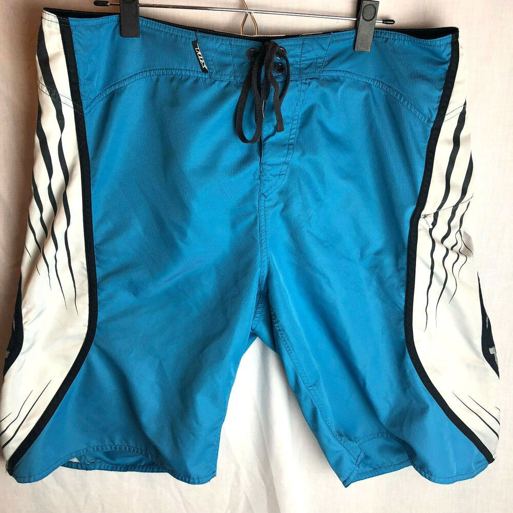 5d1c263416 Fox Racing Boardshorts Size 38 Mens With Tool Blue Off White #Fox # BoardShorts
