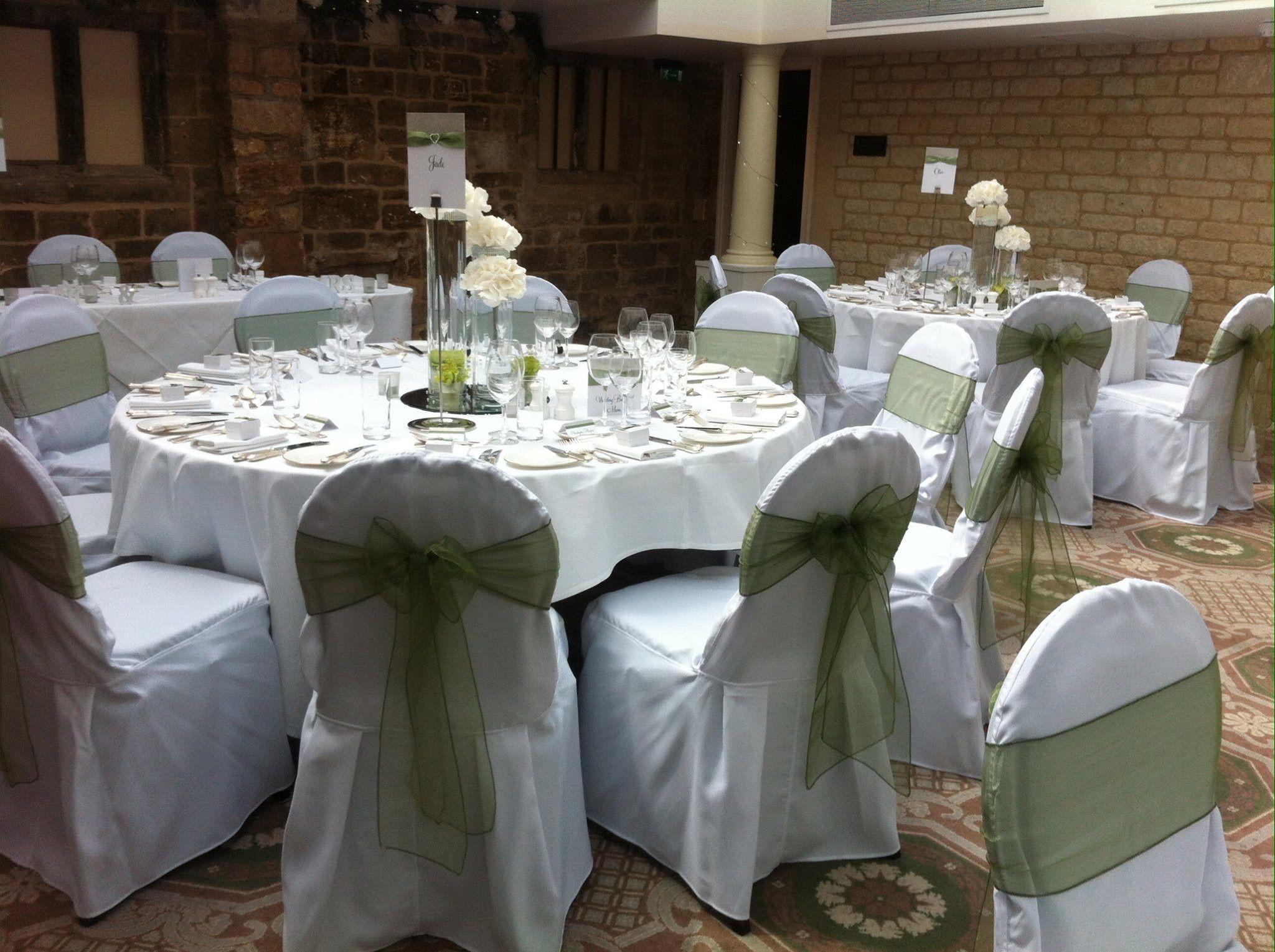 Chair Covers Sage Green Office Gif With Sashes Wedding Reception Theme In
