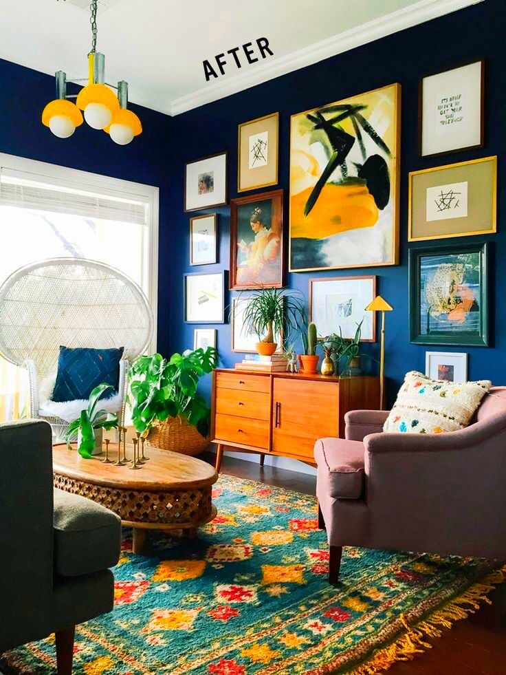 Dope Pops Of Color And Blue Hues