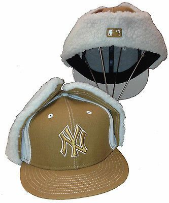 New Era 59fifty Ny Yankees 7 1 2 Cap Dog Ear Winter Hat Trapper New York Fitted New York Fit Riding Helmets Hats