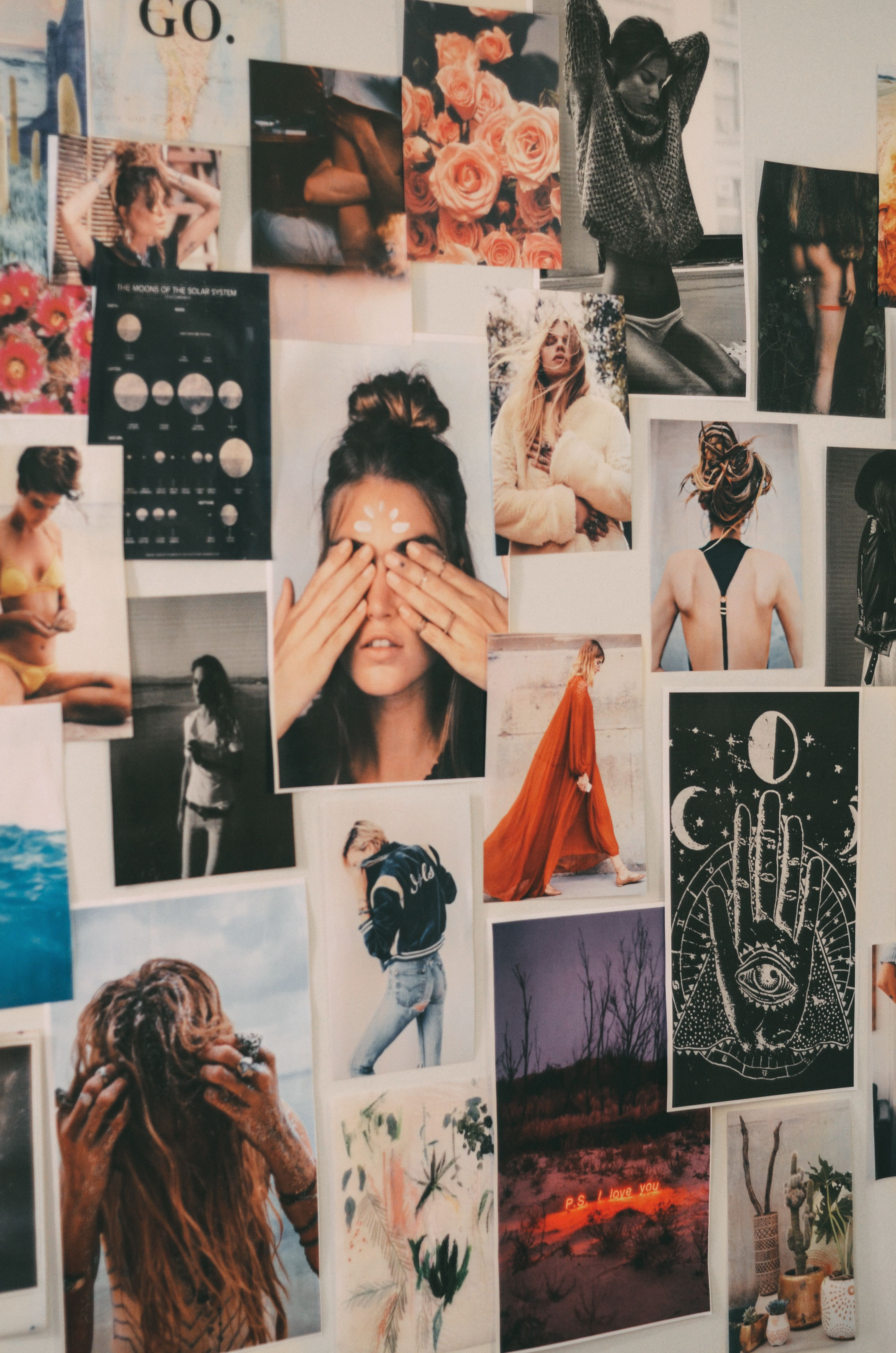 Inspiration boards on walls ideas indie aesthetic #decor