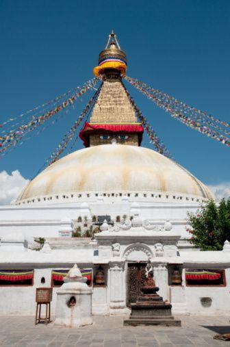 Bodnath temple . Nepal