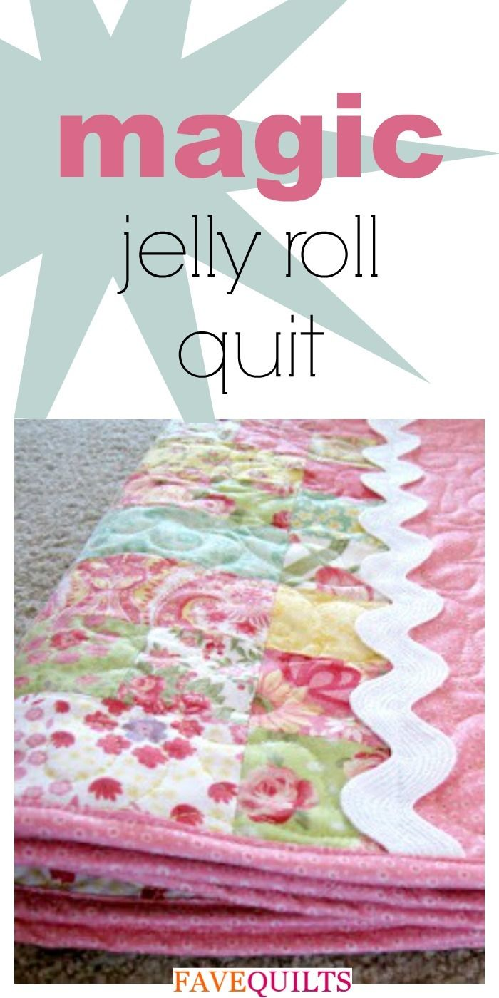 Magic Jelly Roll Quilt | Baby Quilt Patterns | Jellyroll quilts