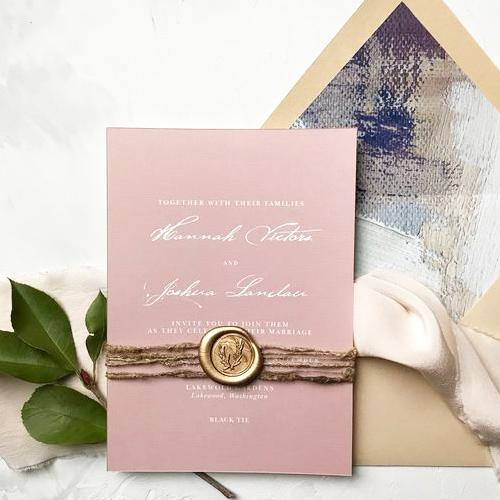 Wedding Custom Wax Seal Stamp With Double Initials
