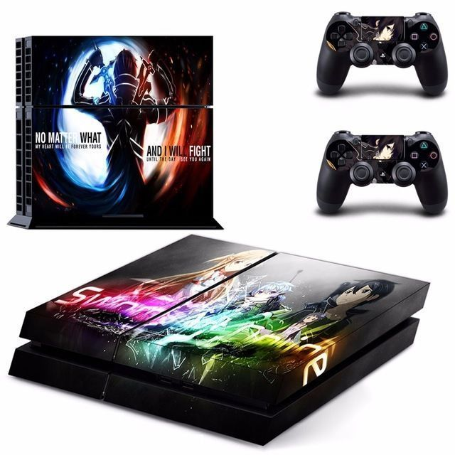 Details about PS4 Skin Sticker Decal Cover 5 Choices Anime