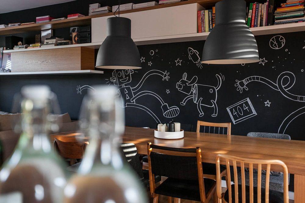 Tường đen – xu hướng mới trong phong cách bếp hiện đại.